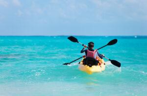 Ocean kayak with two people